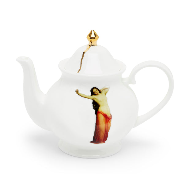 The Temptation Collection, Small Teapot by Melody Rose for the Wallace Collection. Made in the UK, Fine Bone China and hand-gilded finish.