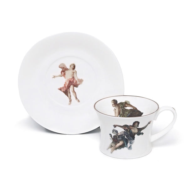 Rising Sun Thetis Teacup and Saucer - by Melody Rose