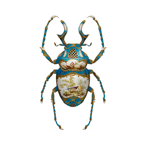 Sevres Dicranocephalus Wallichii, by Magnus Gjoen for the Wallace Collection. Limited Edition Art Print.