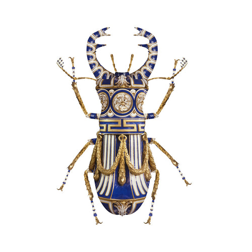 Sevres Lucanus Cervus, Limited Edition Art Print by Magnus Gjoen for the Wallace Collection. Sold as a limited edition of /150.