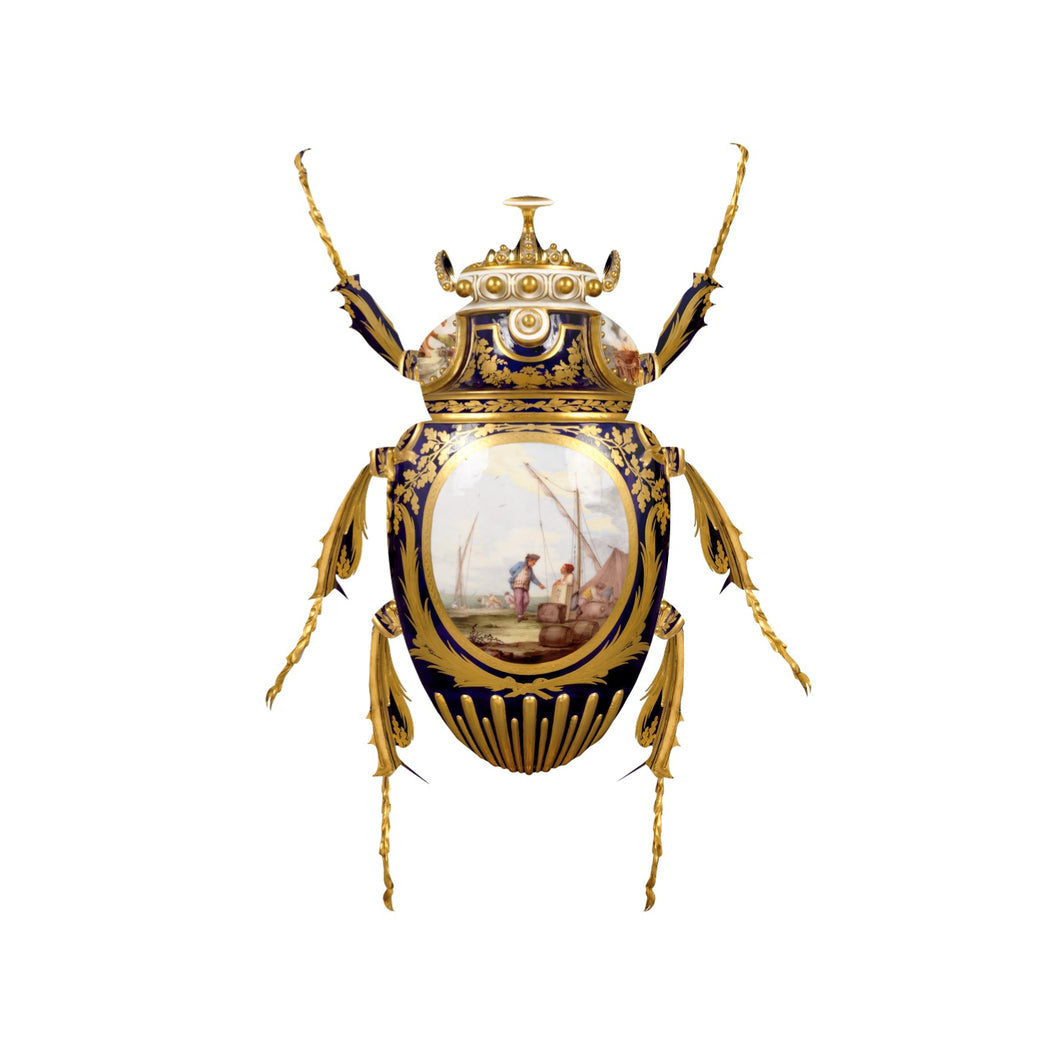 Sevres Goliathus Scarabaeidae, Limited Edition Art Print by Magnus Gjoen for the Wallace Collection. Limited edition of /150.