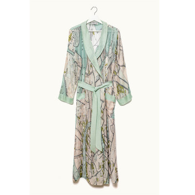 Venice Map Dressing Gown - by One Hundred Stars