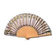 Peacock Folding Wooden Fan