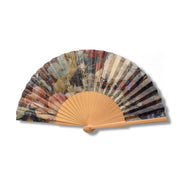 Still Life Folding Wooden Fan