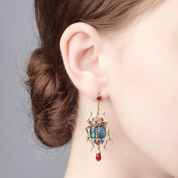 Bejewelled Bug Statement Earrings