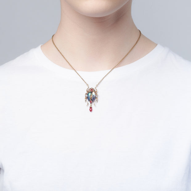 Bejewelled Bug Pendant