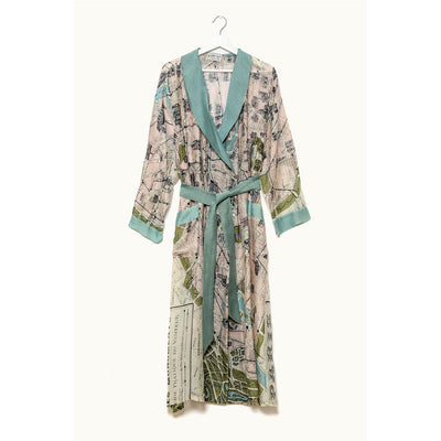 Paris Map Dressing Gown - by One Hundred Stars
