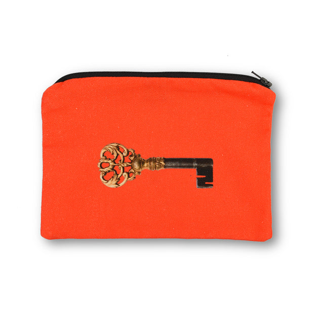 Secretaire Cotton Pouch Coral