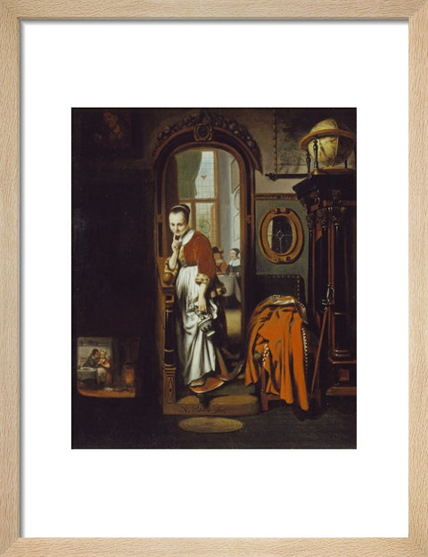 The Listening Housewife (The Eavesdropper) print