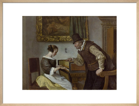 The Harpsichord Lesson print