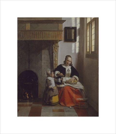 A Woman peeling Apples print
