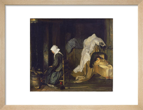 Interior with Woman Cooking print