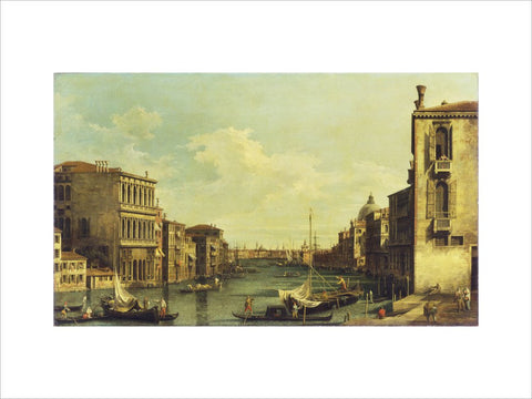 Venice: The Grand Canal from Campo San Vio towards the Bacino print