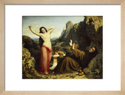 The Temptation of Saint Hilarion print