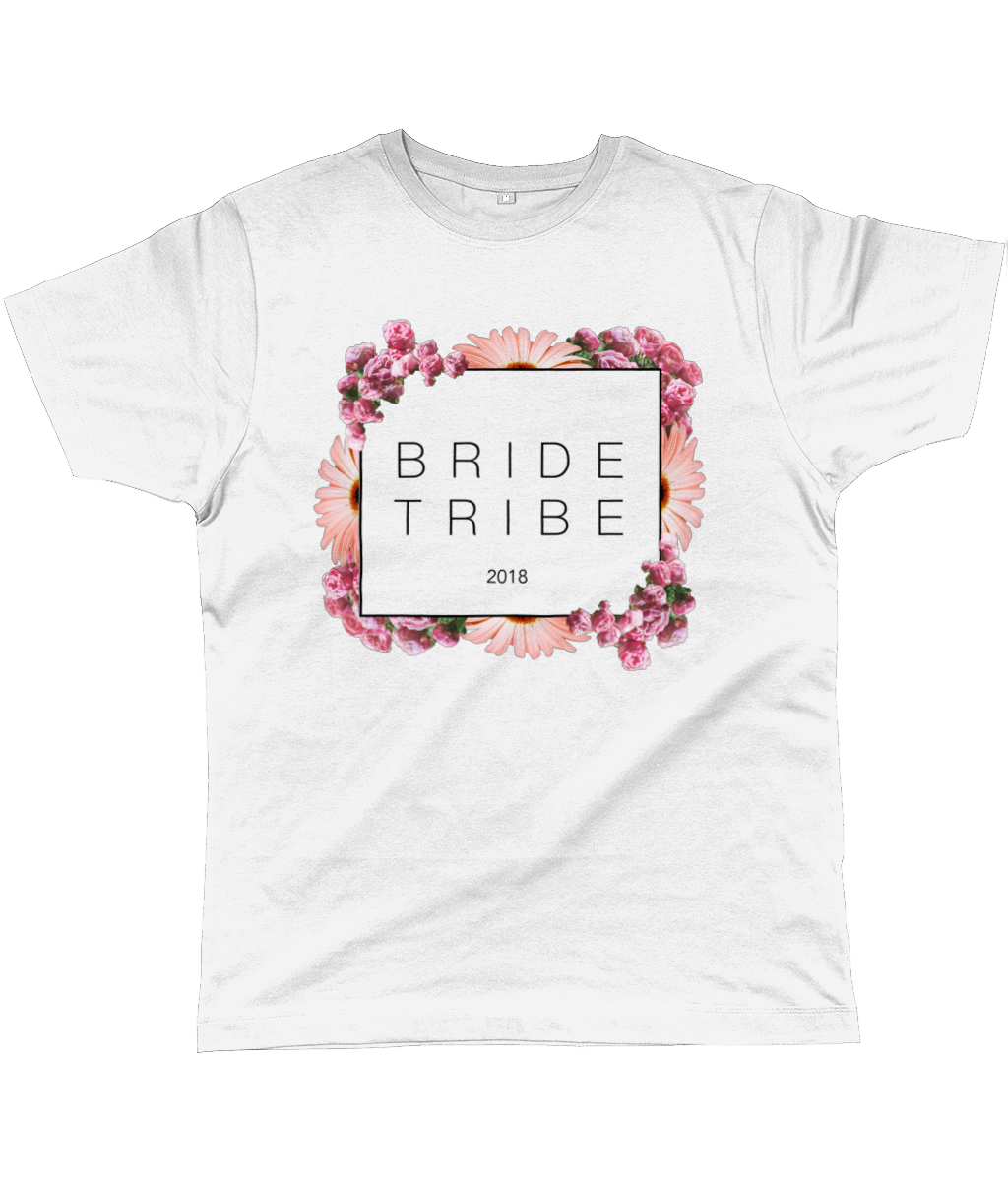 Bride Tribe Floral Block Unisex Fit Tee - 2018 - UK and EU