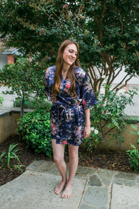 Sapphire Floral Robe