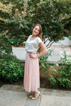 High Waist Maxi in Blush