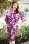 Purple Floral Robe