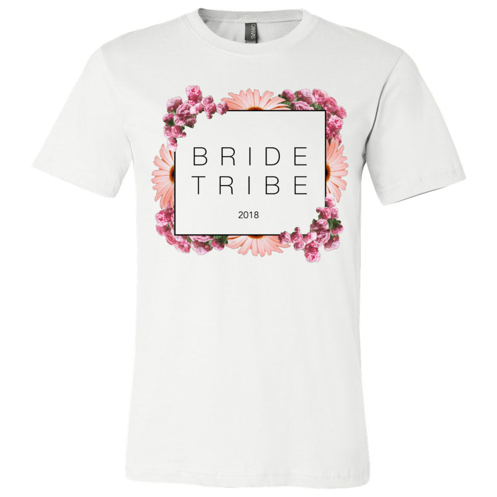 Bride Tribe Floral Block Tee - 2018 - Regular Fit