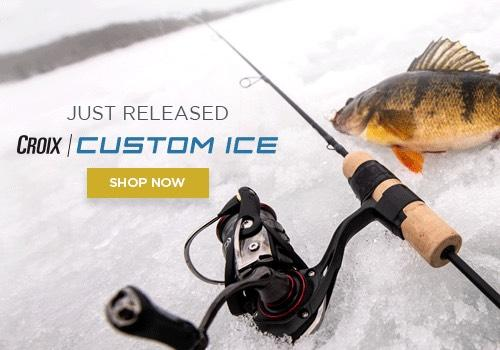 All New Croix Custom Ice rod from St Croix.  Seek perch, walleye and other fish in hardwater situations