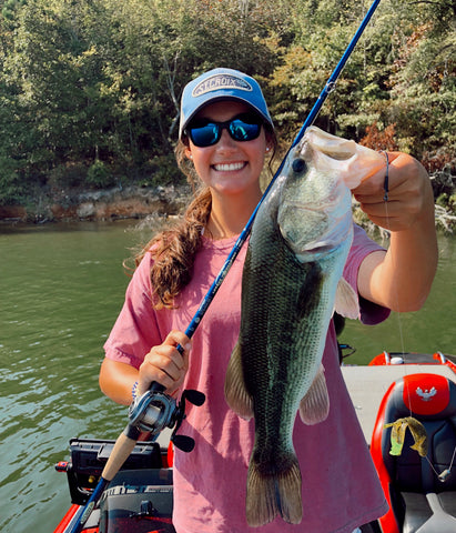 St Croix College Angler Lee Rose Koze with a Largemouth caught on a Legend Tournament Bass rod