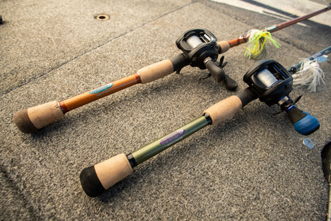 St. Croix Rod Legend Glass and Mojo Bass Glass Fishing rods