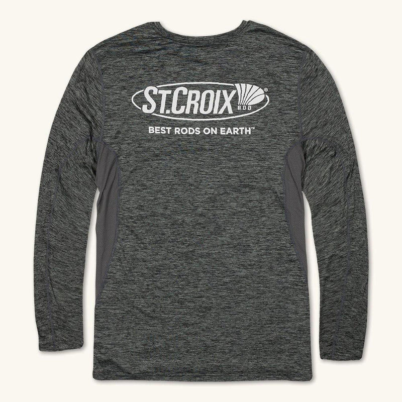 Charcoal Heather Performance Long Sleeve