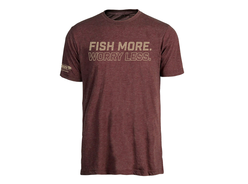 Fish More Tee - Burgundy