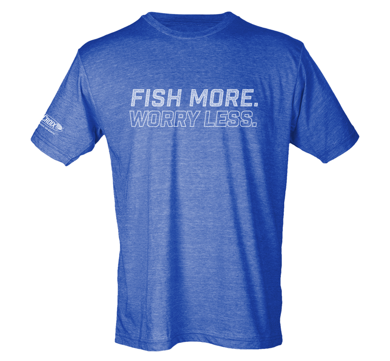Fish More. Worry Less Tee