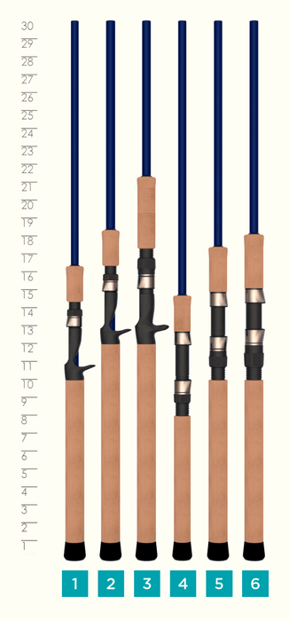 LEGEND TREK CASTING ROD HANDLES