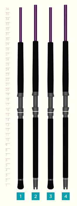 MOJO SALT CONVENTIONAL ROD HANDLES