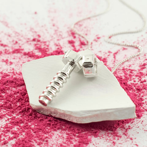 Nut & Bolt Personalised Pendant