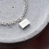 Personalised Sterling Silver Brick Bracelet