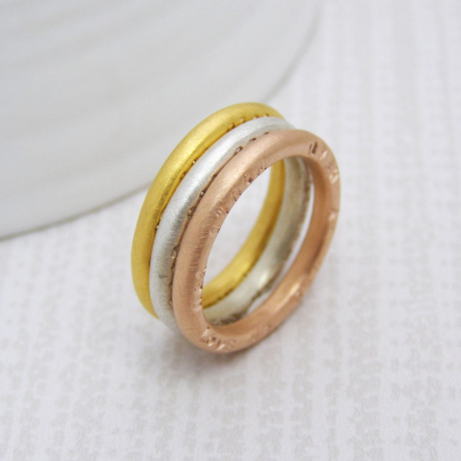 Personalised 9ct Gold Stacking Rings - Soremi Jewellery