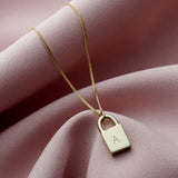 Solid 9ct Personalised Initial Padlock Necklace