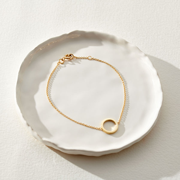 Copy of 9ct Yellow Gold Circle Bracelet