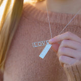 Personalised LOVE Mantra Necklace