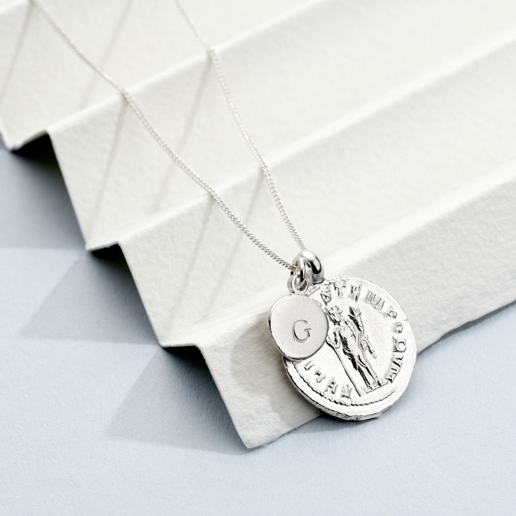 Personalised Silver Goddess Necklace