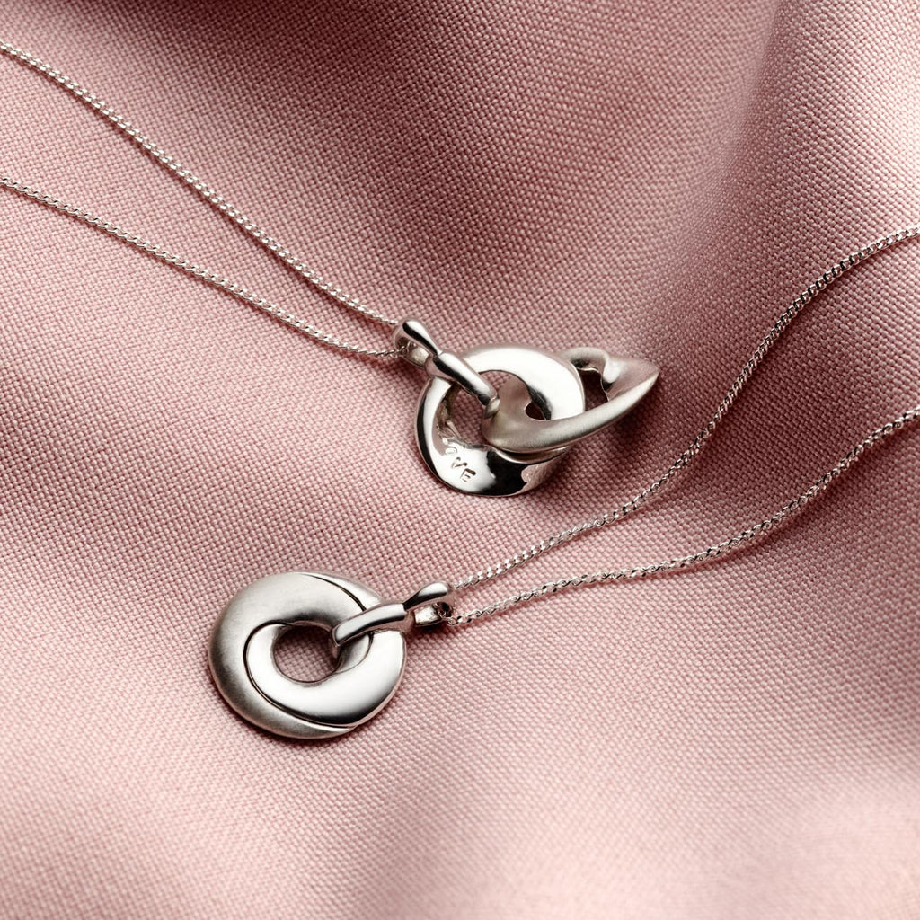 Personalised Silver Mobius Locket Necklace