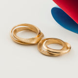 Mobius Infinity Personalised Yellow Gold Wedding Bands - Soremi Jewellery