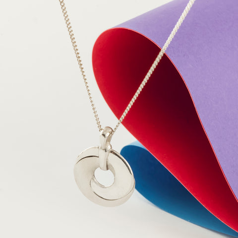 Mobius Infinity Personalised Silver Pendant
