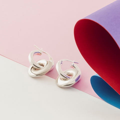 Mobius Infinity Personalised Hoop Earrings