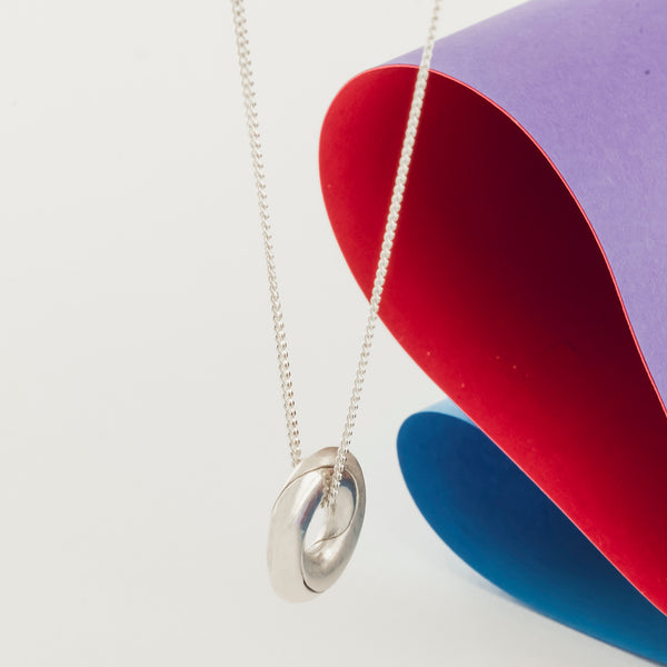 Silver Mobius Infinity Personalised Necklace - Soremi Jewellery