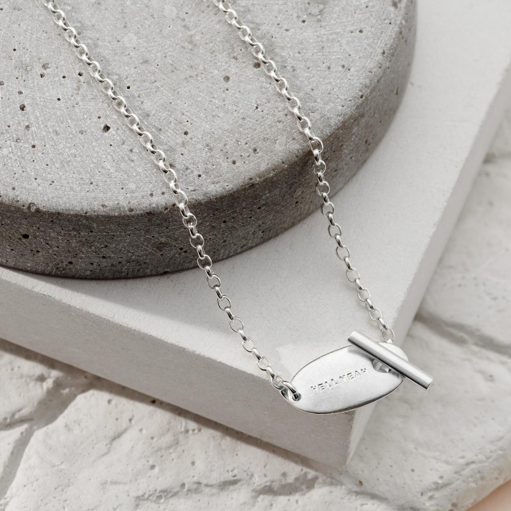 Personalised Oval Toggle Necklace