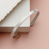 Sterling Silver Personalised Adjustable Bangle