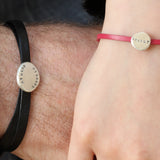 Matching Personalised 'Daddy & Me' Nappa Leather Bracelets - Soremi Jewellery