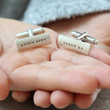 Classic Personalised Men's Cuff Links - Soremi Jewellery