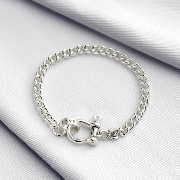 Personalised Shackle Bracelet