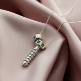 Nut & Bolt Gemstone Personalised Pendant