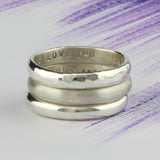 Personalised Simple Stacking Rings